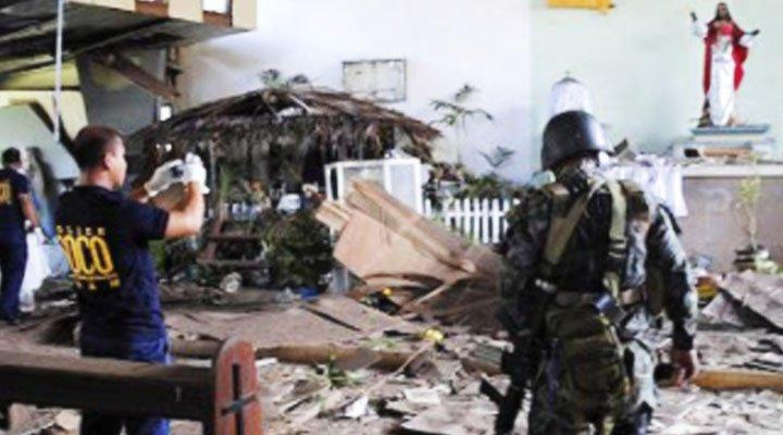 Estalla una bomba en la entrada de una iglesia en Filipinas