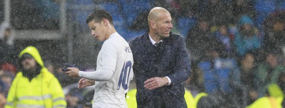 La traición de Zinedine Zidane a James Rodríguez