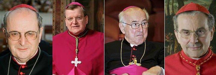 """Cuatro cardenales desafían públicamente al Papa y a las """"confusiones"""" de Amoris Laetitia"""