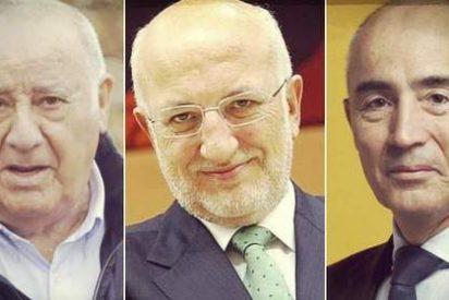 Amancio Ortega, Juan Roig y su mujer, y Rafael del Pino, las tres mayores fortunas de España