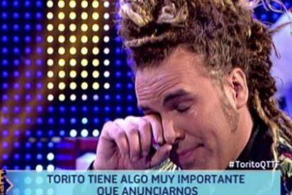 El colaborador de T5, Torito, rompe a llorar en '¡QTF!' al anunciar su marcha de la TV