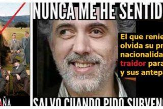 Risotadas en Twitter con el cabreo de mona del antiespañol Trueba