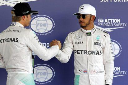 Hamilton gana una carrera loca y se coloca a sólo 12 puntos de Rosberg
