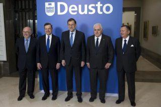 Draghi y Rajoy, en el centenario de Deusto Business School