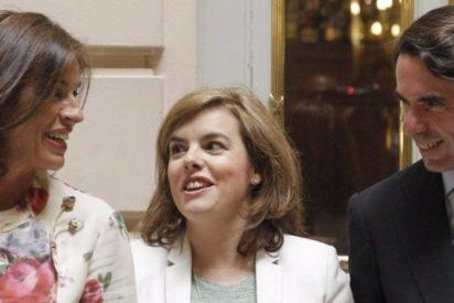 El PP especula escamado sobre las oscuras intenciones de Aznar con Soraya