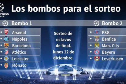 El bombo 2 de la Champions tiene cocodrilos: Bayern, PSG, Benfica y City