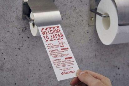 Japoneses inventan un papel de baño para limpiar la pantalla del móvil