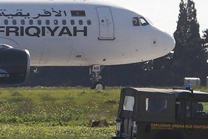 Liberados los pasajeros y parte de la tripulación del avión libio secuestrado y desviado a Malta
