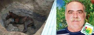 [VÍDEO] La burrada del cafre concejal de IU: ¡abandona a su caballo vivo en un hoyo!
