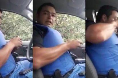 [VÍDEO] El policía que se pone de cocaína hasta las cejas en su coche patrulla
