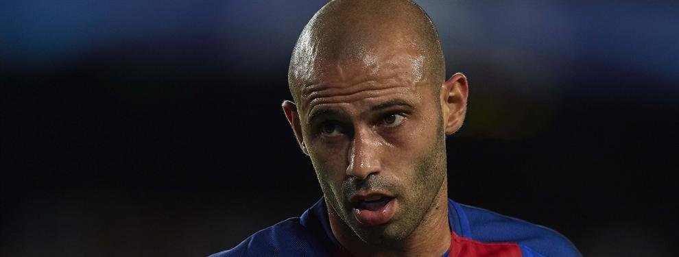 El Barça negocia a espaldas de Mascherano con su reemplazo