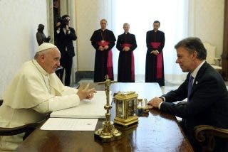 El presidente Santos agradece al Papa su petición de paz para Colombia