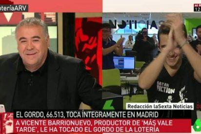 Un joven periodista de La Sexta gana el Gordo y pide el día libre a su jefe Ferreras