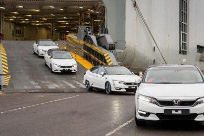 Llegan a Europa los primeros Honda Clarity Fuel Cell