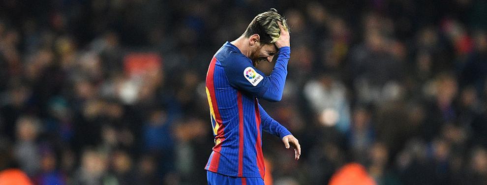 La tremenda bronca de Messi después de igualar el clásico español