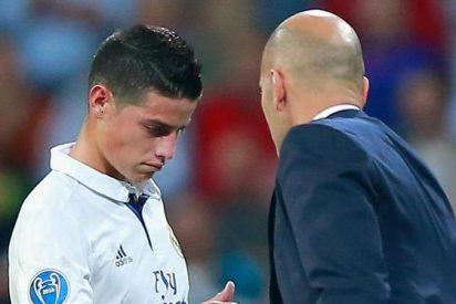 Lo que le dijo Zidane a James (con sorpresa) al acabar el partido ante el Dépor
