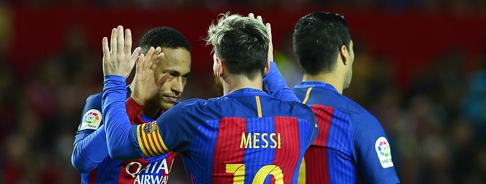 Messi se carga a un jugador del Barça (sin querer)