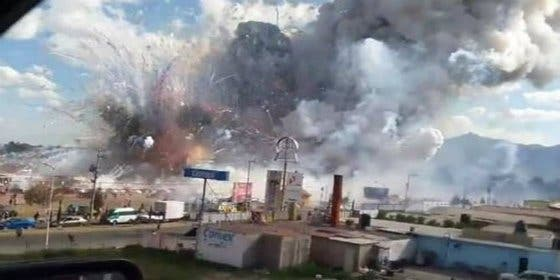Las explosiones que han causado 29 muertos en un mercado mexicano de pirotecnia