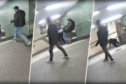 [VÍDEO] El salvaje ataque del sádico refugiado a una chica en pleno metro berlinés