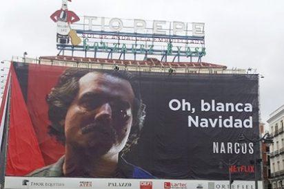 Netflix la lía parda con su nueva campaña navideña en la Puerta del Sol