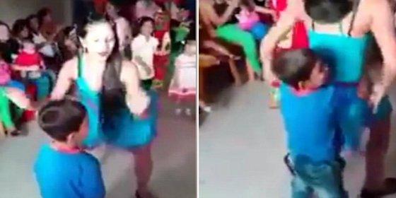 El polémico vídeo del 'perreo' de las bailarinas en una fiesta infantil salida de madre