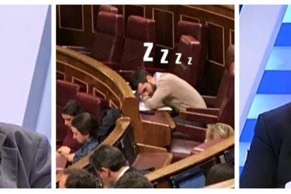 """Alfonso Rojo y Antonio Jiménez masacran al podemita durmiente Pablo Bustinduy: """"¿En qué barra de bar ha trabajado?"""""""