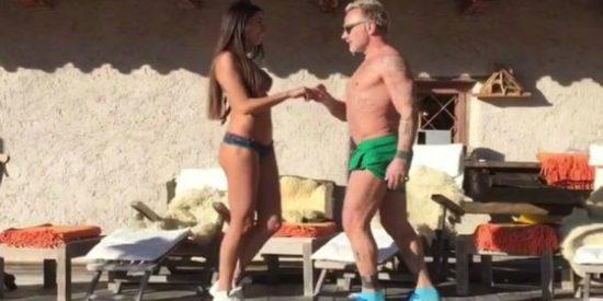 El baile del millonario italiano Gianluca Vacchi y su novia enamora a Shakira