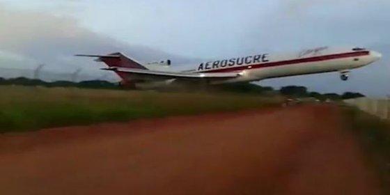 [VÍDEO] Así se estrella el Boeing 727 de Aerosucre en Colombia tras su despegue