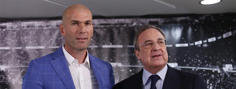 Zidane informa a un jugador que debe salir del Real Madrid