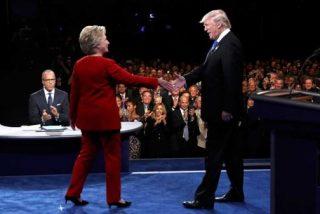 El feroz debate a cara de perro entre Clinton y Trump con bocados en la yugular