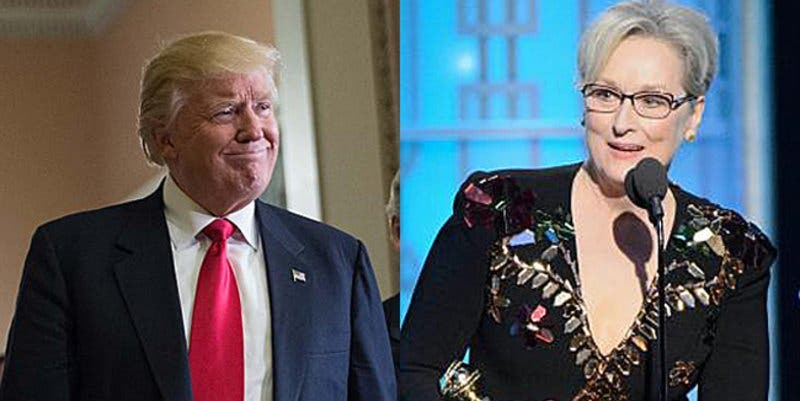 "Donald Trump devuelve el zasca a Meryl Streep: ""Está muy sobrevalorada"""