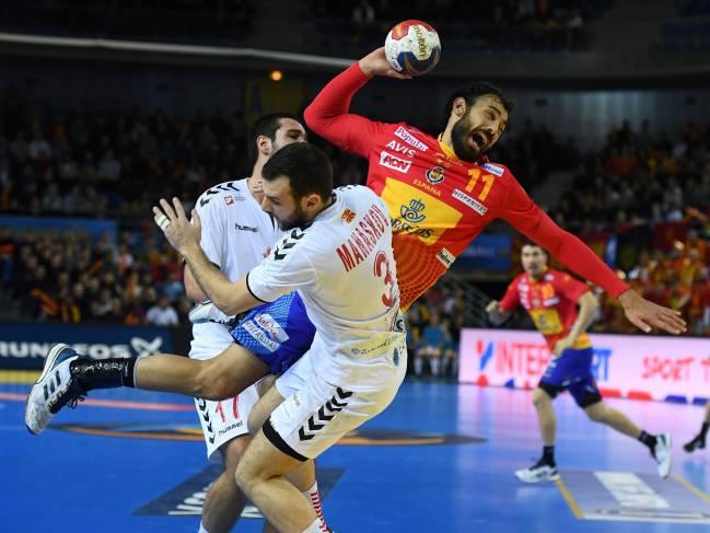 Rivera y Dujsebaev tiran de España para batir a Macedonia (29-25)
