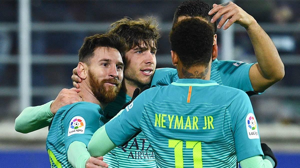 Messi lidera al Barça la toma del norte: SD Eibar 0 - FC Barcelona 4