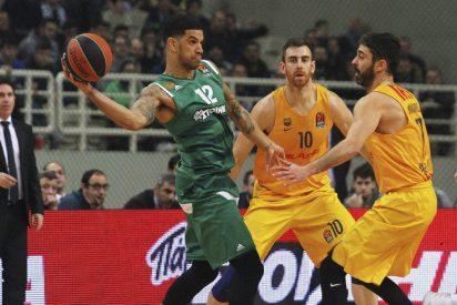 Pascual derrota al Barcelona con Bourousis y Rivers de líderes: Panathinaikos 71 - FC Barcelona Lassa 65