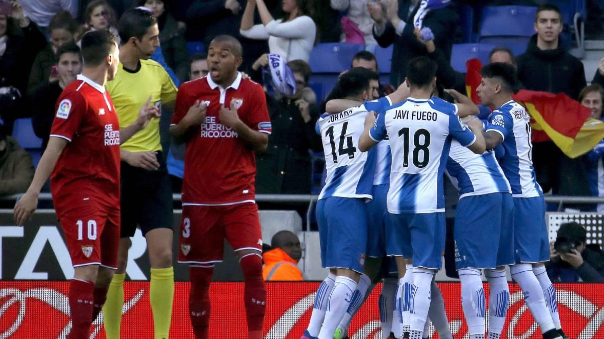 Los chicos de Sánchez Flores despluman a los de Sampaoli: Espanyol 3 - Sevilla 1