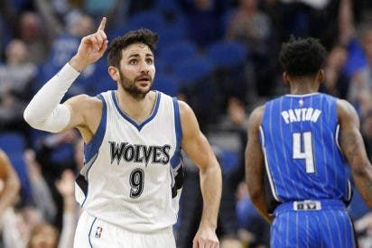 El mejor Ricky (22+8+8) bate su récord de triples (6) en la NBA: Wolves 111 - Magic 105