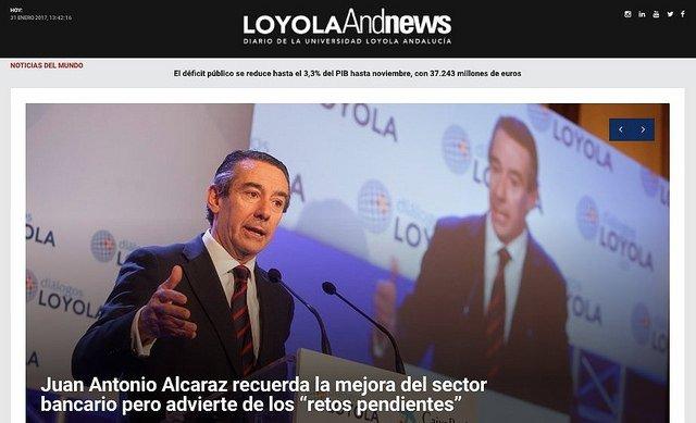 La Universidad Loyola Andalucía renueva su portal informativo