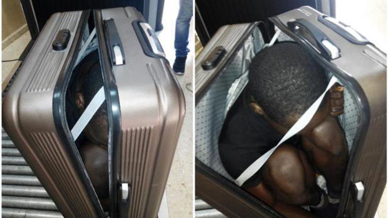 Detenida una marroquí por llevar a un inmigrante negro empaquetado en la maleta