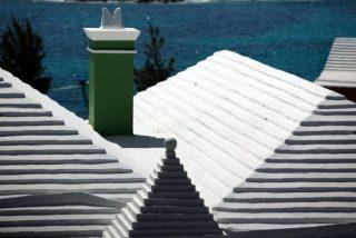 Las casas en las Bermudas tienen escaleras en el techo