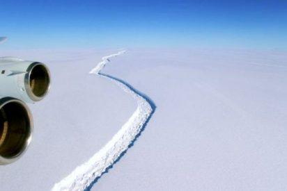 El enorme iceberg que se partirá en dos en la Antártica