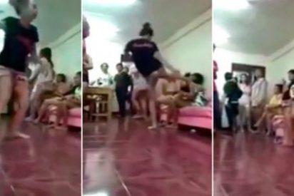 La paliza de una experta en kick boxing al pendón que tuvo sexo con su marido