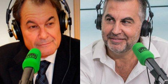 """Artur Mas se pone chulo con Alsina: """"Usted le verá base legal a mi juicio, pero no la tiene"""""""