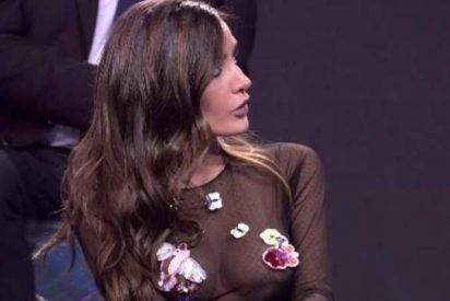 La novia de Marco Ferri se estrena en 'GH VIP' con transparencias y enseñando pezón