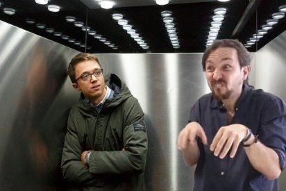 Errejón se mete en el ascensor y deja patidifuso a Podemos y alterado a Twitter