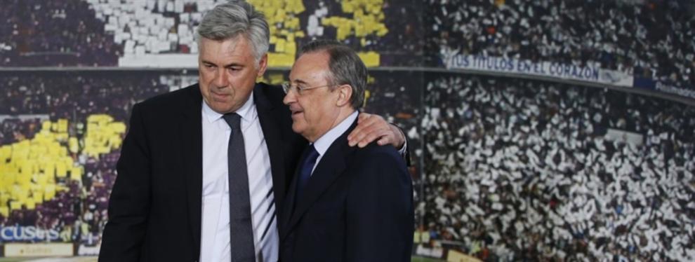 Carlo Ancelotti dinamita un fichaje de Florentino Pérez para el Madrid