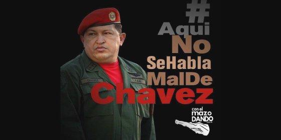 Con este subidón anuncia Cabello su rastrera campaña 'Aquí no se habla mal de Chávez'