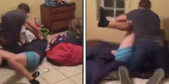 Pilla a su esposa en la cama con un maromo y se deja los cuernos dando hostias