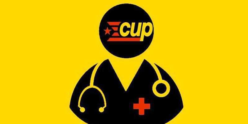 La CUP llama a 'okupar' plantas de hospitales y camas ante el colapso de la Sanidad catalana