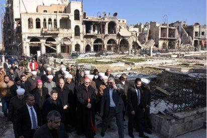 Delegación vaticana en misión en Alepo