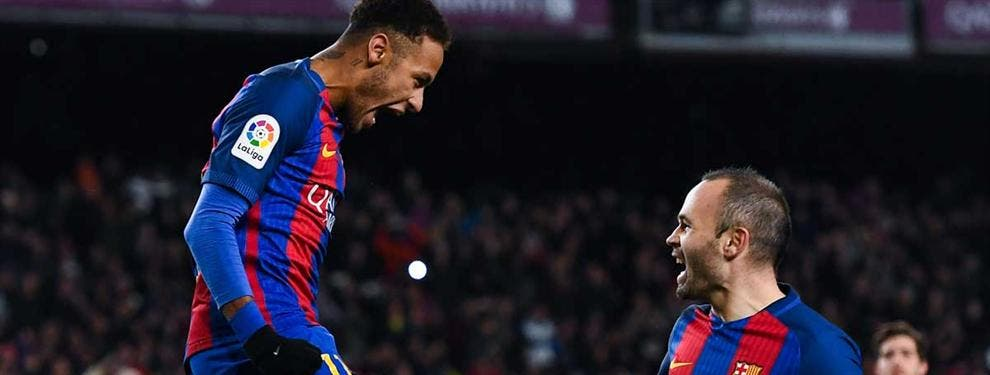 El gesto que ha tenido Neymar y que ha molestado a Iniesta